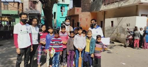 Donate For Slum Child Education in Delhi NCR India